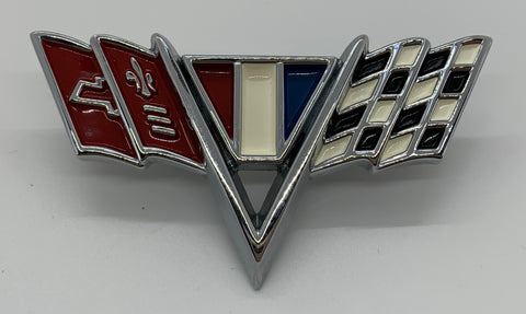 "FE64 | 1964-67 Chevrolet Fender Emblems ""V-Flags"" (See Description For Models)"