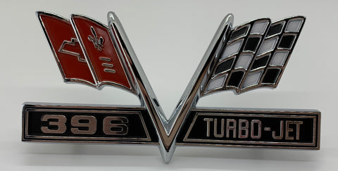 "FE65-3 | 1965-67 Chevrolet Fender Emblems ""396"""