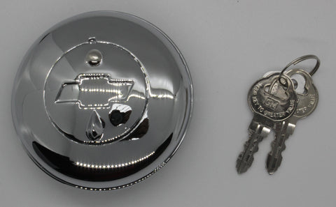 "GC38-B | 1938-54 Chevrolet Locking Gas Cap ""Bow-tie"" (See Description for Models)"