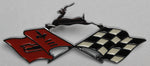 "RE58-I | 1958 Impala Rear Quarter Panel Emblems ""X-Flags"""