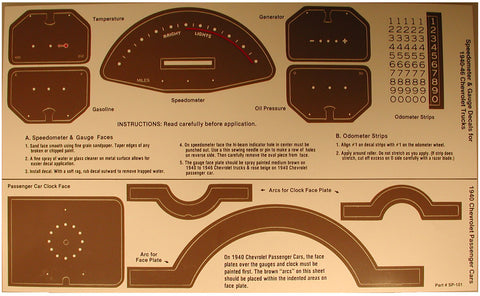 DD04 | 1940 Instrument Panel Decal Kit (1940-46 Truck)