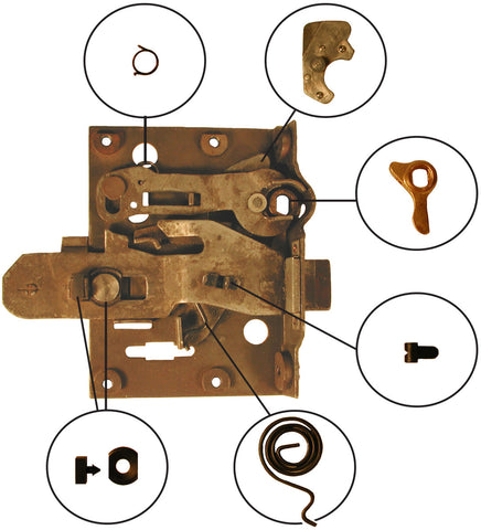 DL01 | 1937-40 Door Latch Repair Kit