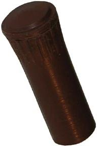 LK02-R | 1937-48 Door Lock Knobs (Brown Rubber)