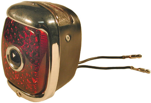 TL03-P | 1937-38 Taillight Housing With Rim (Passenger Side)