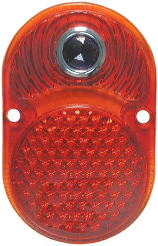 TL06-B | 1925-30  Taillight Lens Glass (w/Blue Dot)