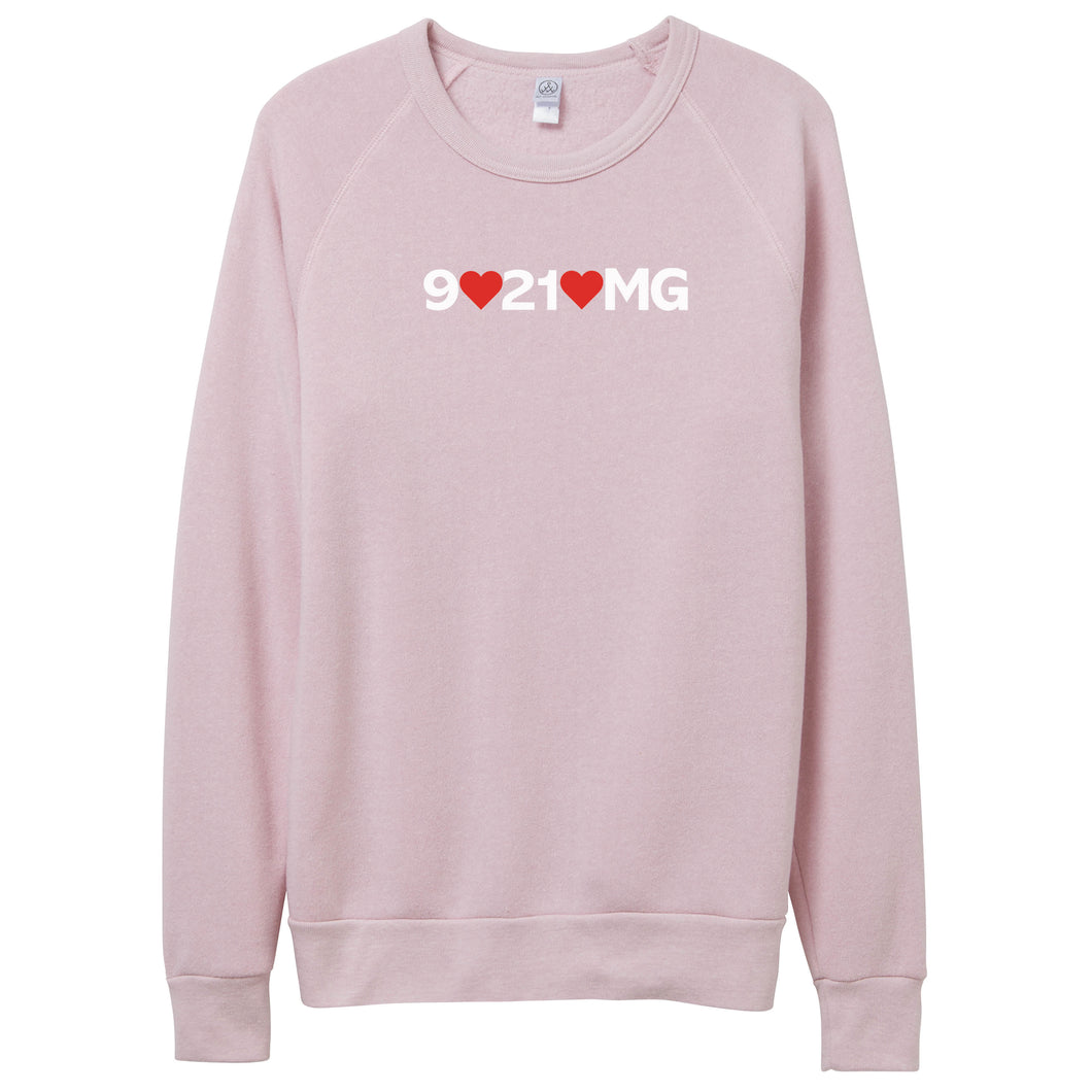 9021OMG Hearts | Eco-FLEECE SWEATSHIRT
