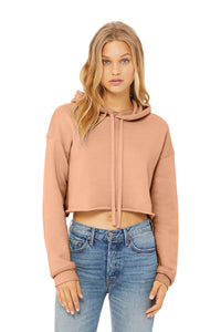 Cropped Hoodie Peach | Chic Shit Only | Left Chest Black
