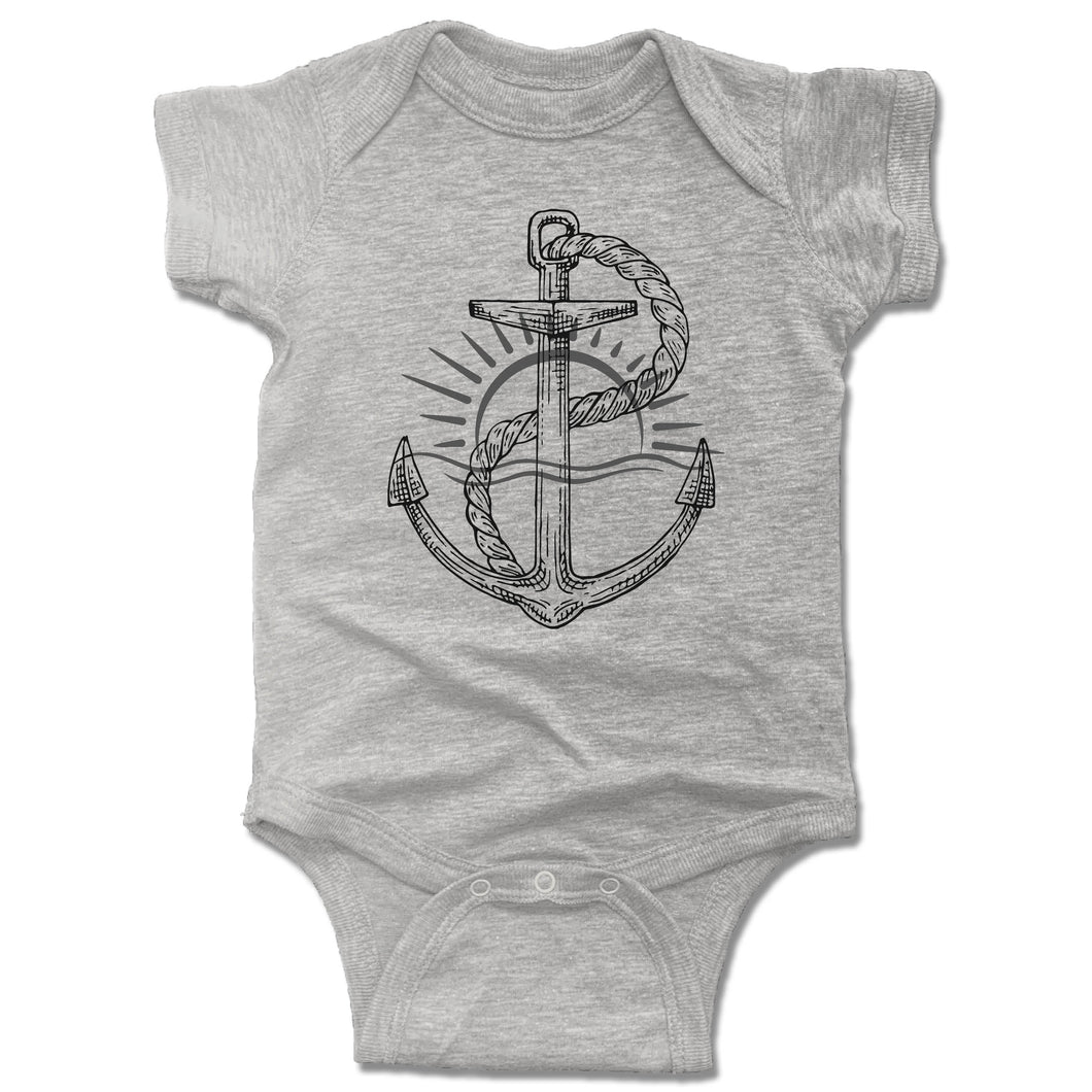 Anchor Onesie - Gray
