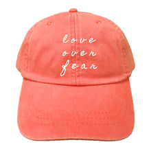 Load image into Gallery viewer, BLOOM FOUNDATION | EMBROIDERED HAT | LOVE OVER FEAR