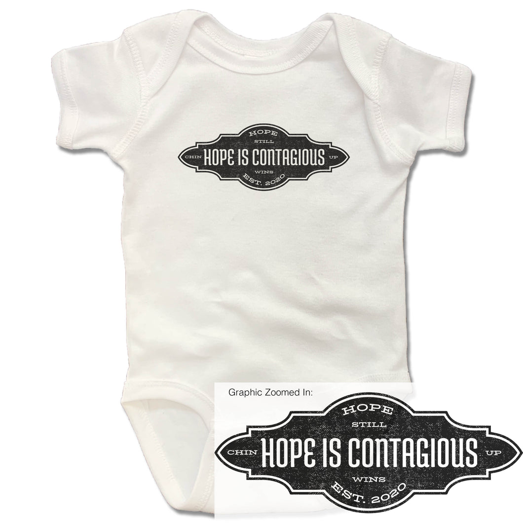 Hope is Contagious Onesie - White