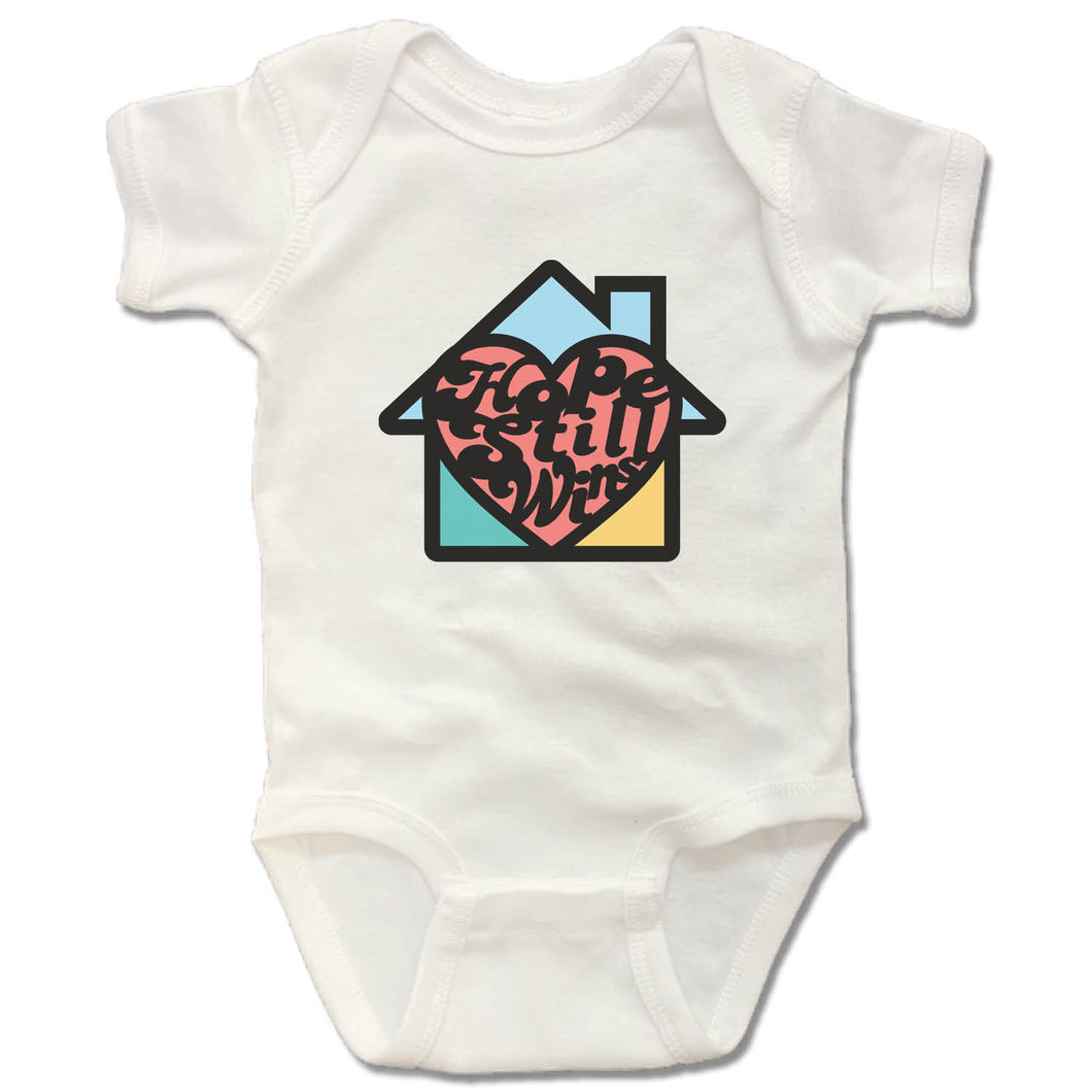 Hope Still Wins Retro Color | Onesie - White