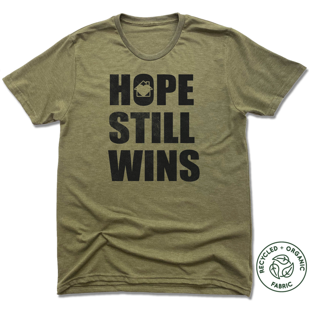 Hope Still Wins Vintage Block - Olive Green