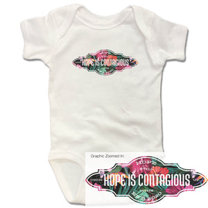 Hope is Contagious | Floral | Onesie - White