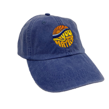Load image into Gallery viewer, YOU MATTER | EMBROIDERED ROYAL HAT
