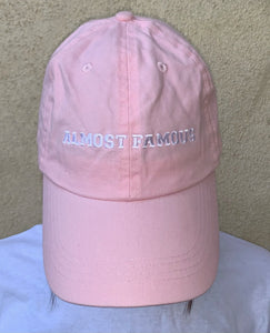 Almost Famous | EMBROIDERED Cotton Twill Pink HAT