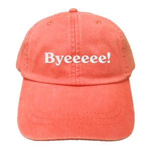 EMBROIDERED Cotton Twill HAT Coral | Byeeeee! Retro