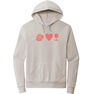 FRENCH TERRY HOODIE LIGHT GREY | Emoji Pink