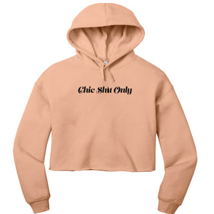 Cropped Hoodie Peach | Chic Shit Only | Wine Bottle