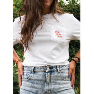 Pocket Tee White | Chic Shit Only