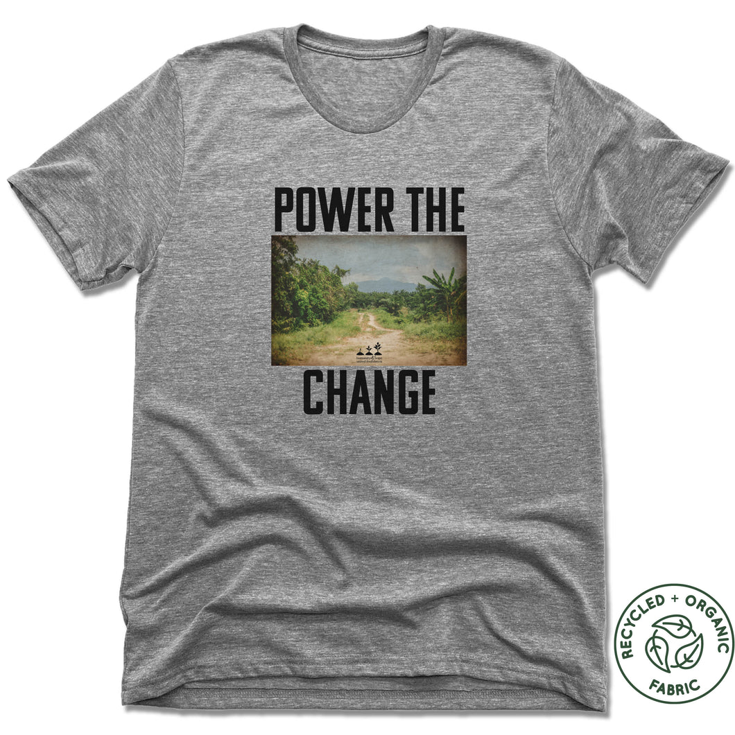 HUMANITY AND HOPE | UNISEX GRAY Recycled Tri-Blend | POWER THE CHANGE PHOTO