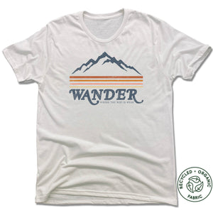 Wander Where the Wifi is Weak - Unisex Recycled Tri-Blend T-shirt - White