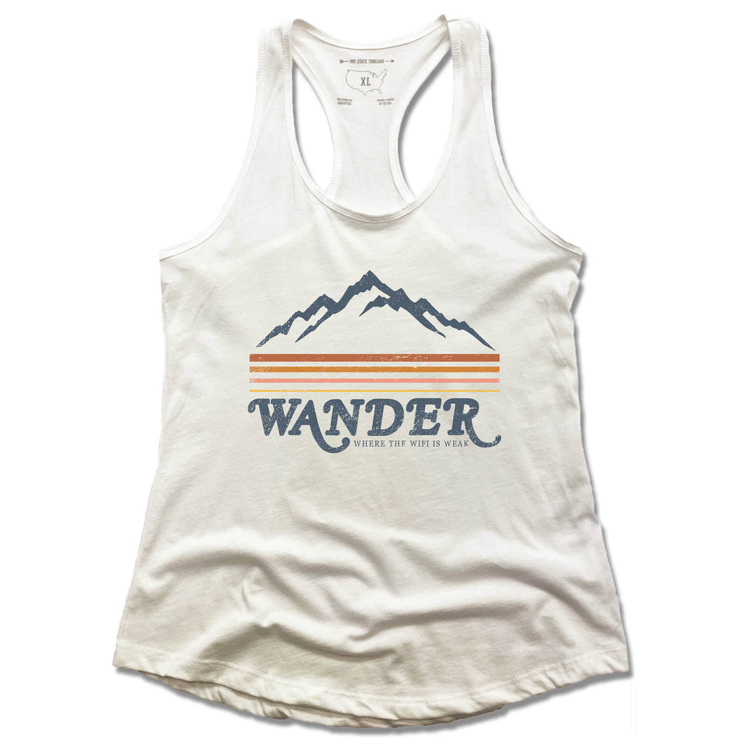 WANDER | LADIES WHITE TANK | White