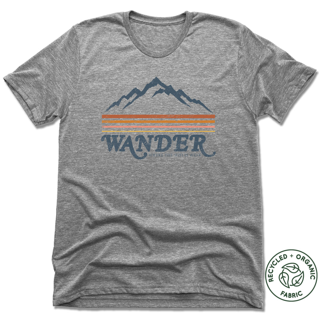 WANDER | UNISEX Recycled Tri-Blend | Gray
