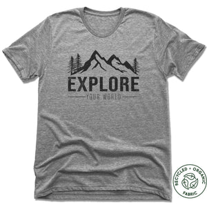 Explore - Unisex Recycled Tri-Blend T-shirt