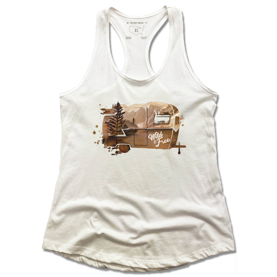 WILD AND FREE | LADIES WHITE TANK