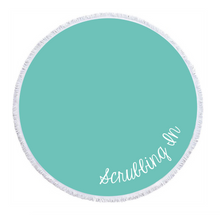 Load image into Gallery viewer, Scrubbing In - Circle Beach Towel - Teal