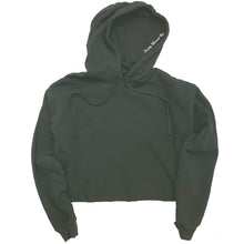 Load image into Gallery viewer, Cropped Hoodie Military Green | Pretty Messed Up - Inside Hood