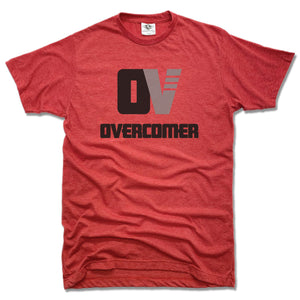 OVERCOMER | UNISEX RED TEE | BLACK OV LOGO