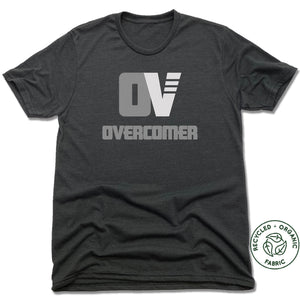OVERCOMER | UNISEX BLACK RECYCLED TRI-BLEND | GRAY OV LOGO