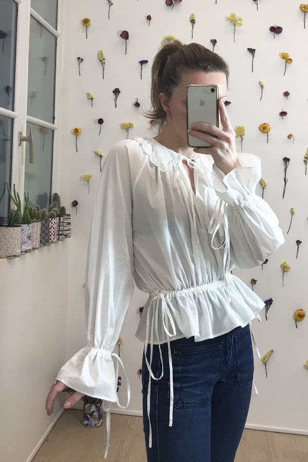 THE NARCISSE BLOUSE - CHANTILLY