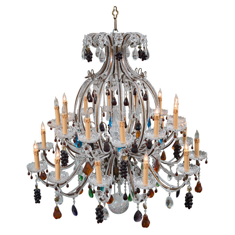Murano fruit decorated large chandelier g4 decor llc murano fruit decorated large chandelier aloadofball Images