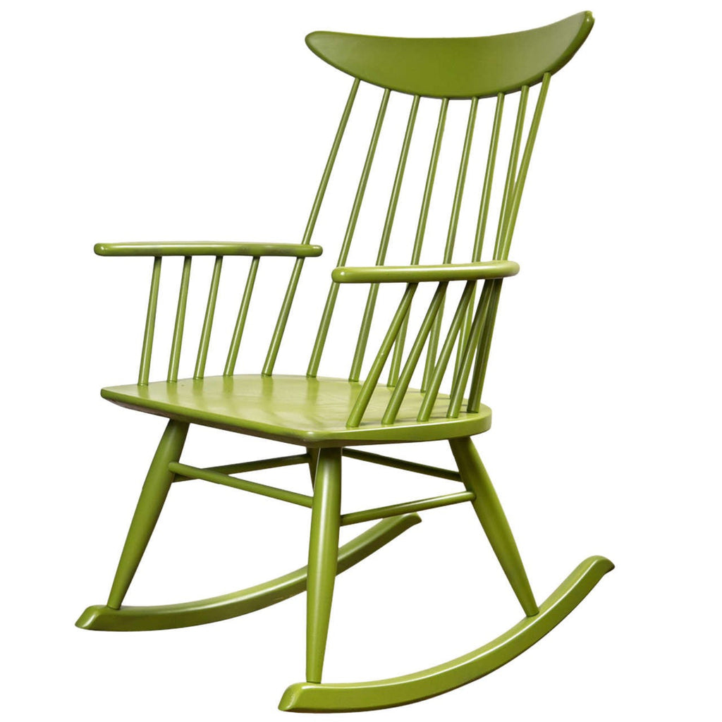 Rocking Chair In The Style Of Russel Wright For Conant Ball