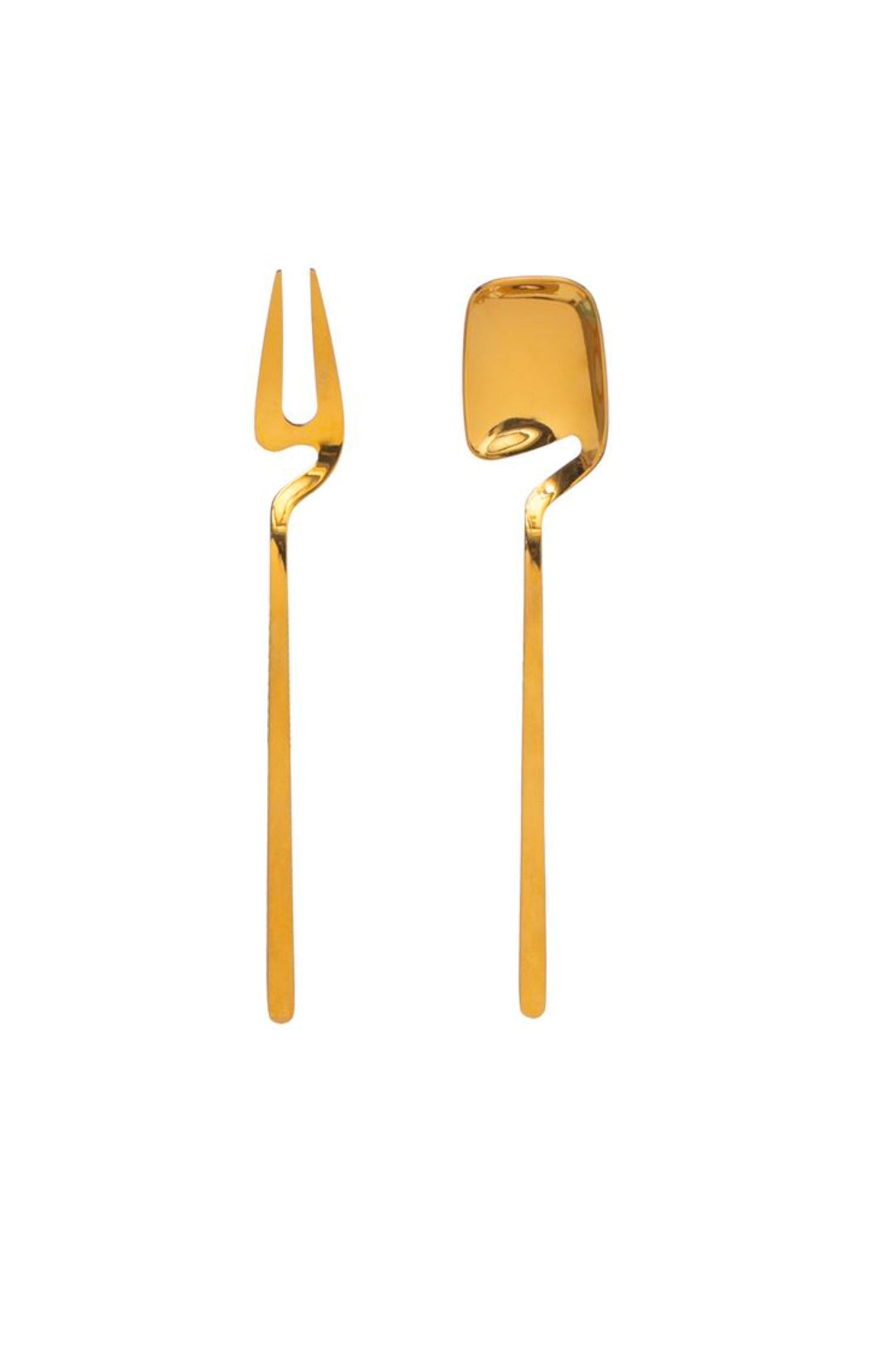 Jam Spoon & Pickle Fork, Gold Finish