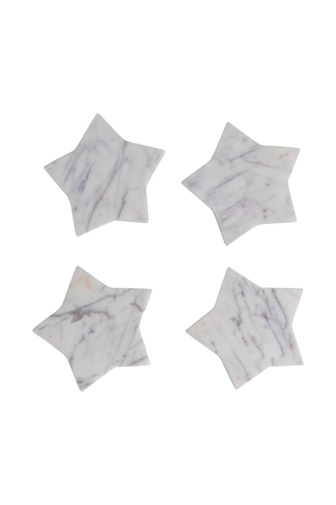 Marble Star Shaped Coasters, Set of 4