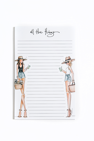 All the Things Notepad - Resort Style