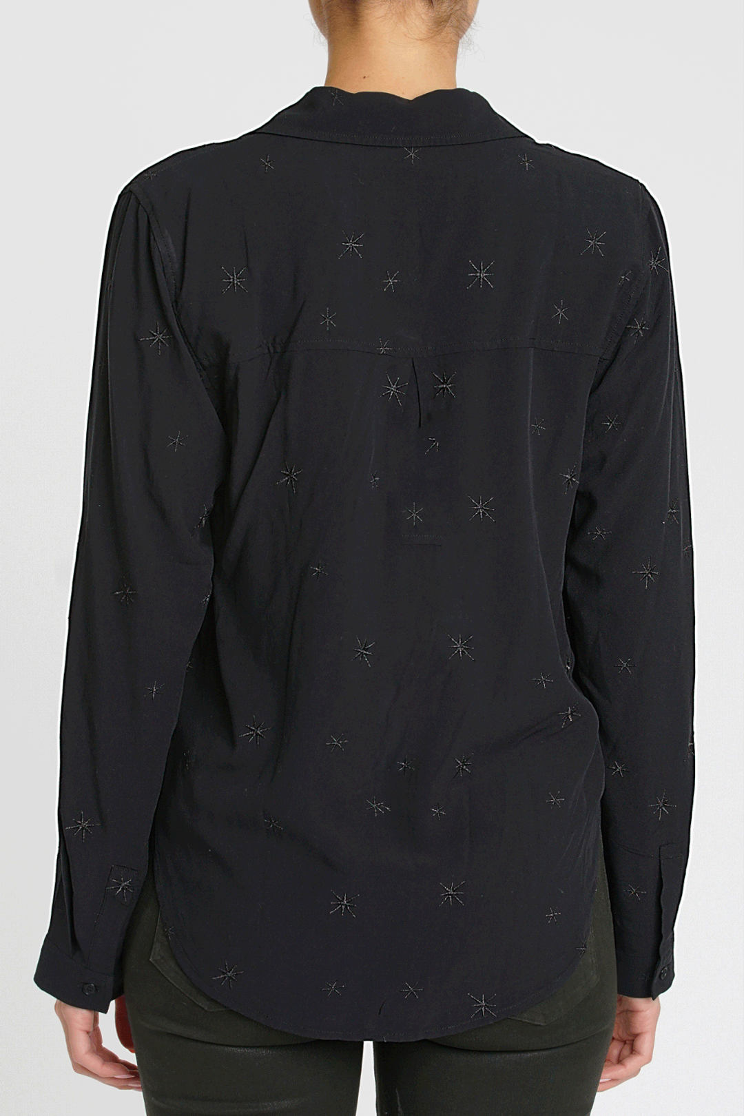 Evie Star Embroidery Shirt - Celestial Shade