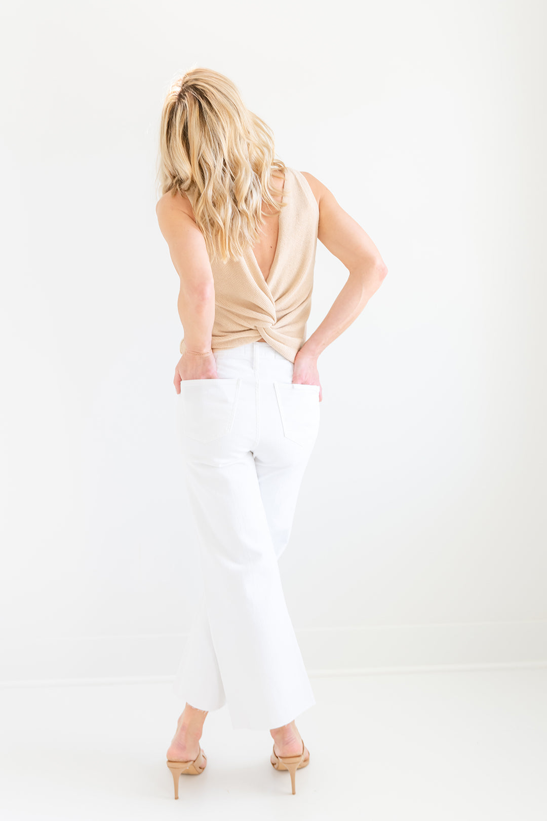 Penny High Rise Wide Leg Crop - Blizzard
