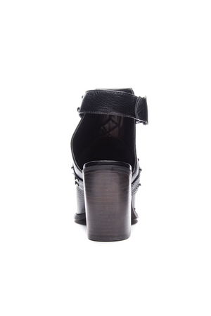 Small Town Open Back Leather Bootie