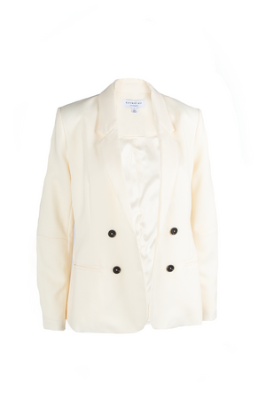 Double Button LSLV Jacket - Ivory
