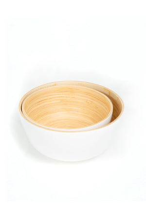 White Bambu Salad Bowl - Blanc Gloss