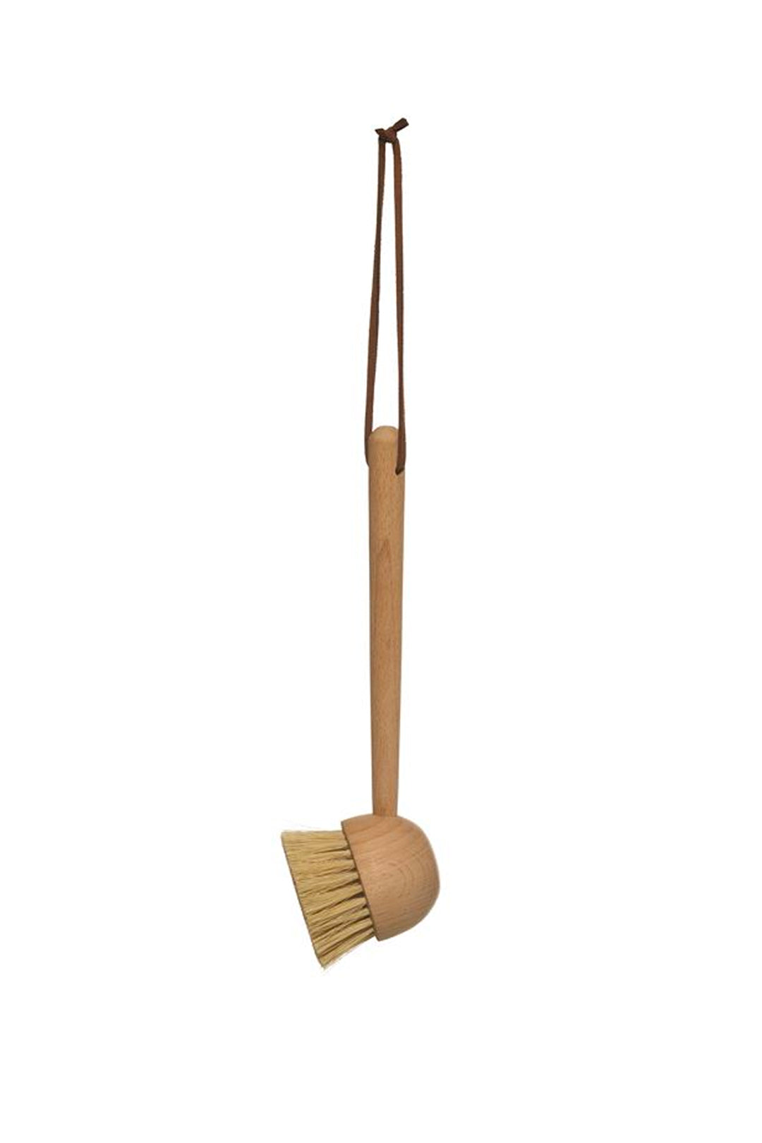 "8"" L Beech Wood Brush w/ Leather Tie"