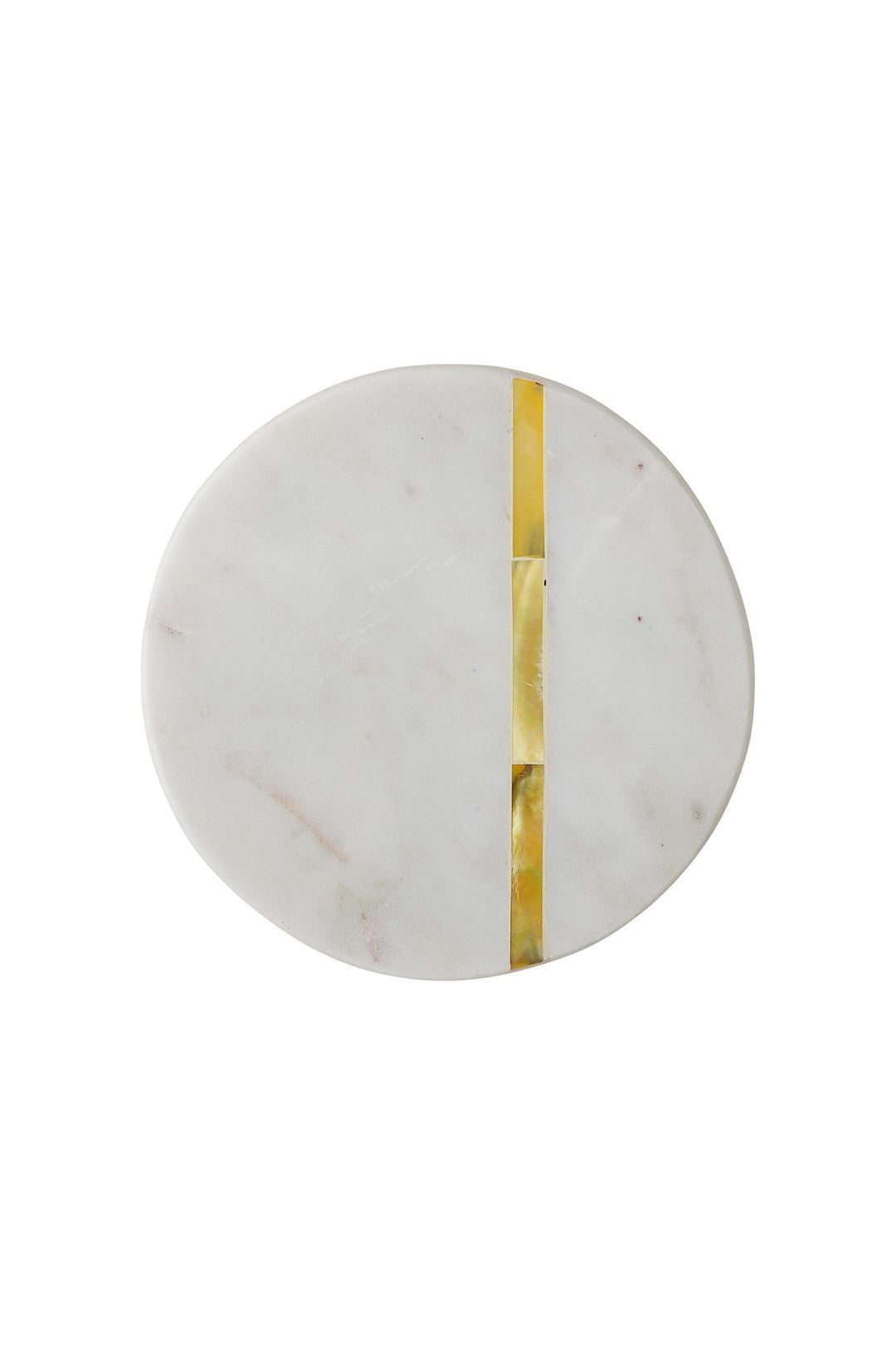 Round Marble Coasters With Gold Inlay