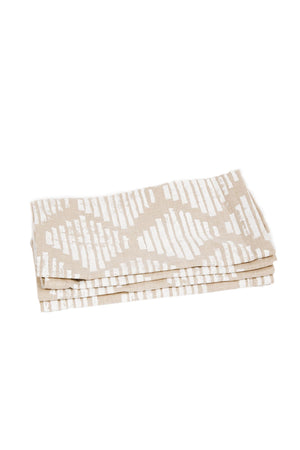 White Honeycomb Dinner Napkins