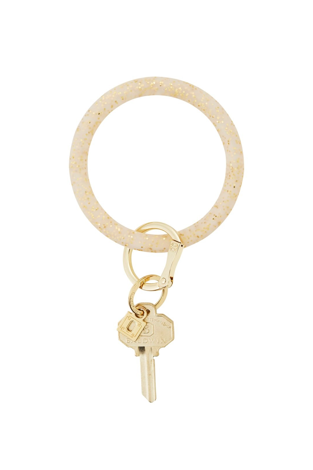 Silicone Big O® Key Ring - Gold Confetti