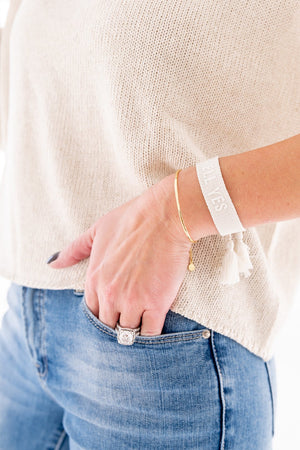 Hell Yes Friendship Bracelets - Cream