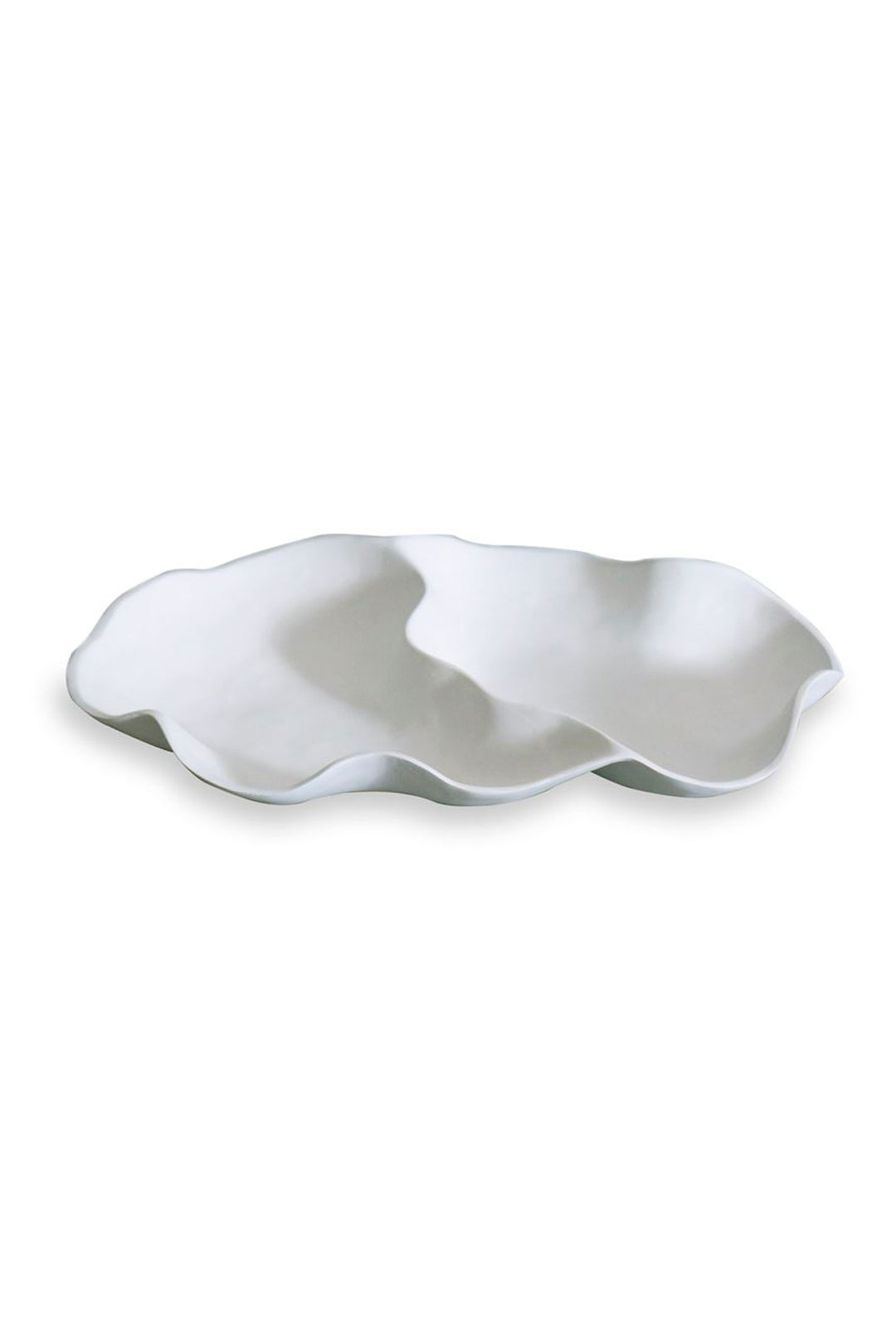 white double dip serving tray